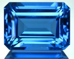 ~JEWELRY GRADE~ 20.35 Cts Natural Swiss Blue Topaz Octagon Cut Brazil