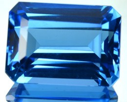 ~JEWELRY GRADE~ 20.51 Cts Natural Swiss Blue Topaz Octagon Cut Brazil