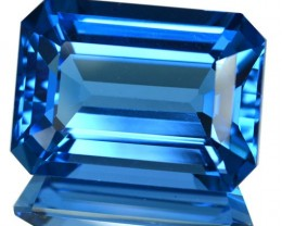 ~JEWELRY GRADE~ 20.36 Cts Natural Swiss Blue Topaz Octagon Cut Brazil