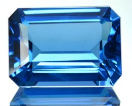 ~JEWELRY GRADE~ 18.69 Cts Natural Swiss Blue Topaz Octagon Cut Brazil