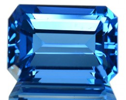 ~JEWELRY GRADE~ 21.27 Cts Natural Swiss Blue Topaz Octagon Cut Brazil