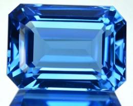 ~JEWELRY GRADE~ 23.56 Cts Natural Swiss Blue Topaz Octagon Cut Brazil
