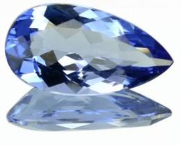 2.25 Cts Natural Blue Beryl (Aquamarine) Pear Cut Brazil Gem