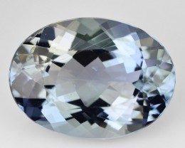 7.71 Cts Natural Blue Beryl Oval Cut Brazil Gem
