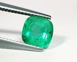 1.82 ct Exclusive Green Cushion Cut Natural Emerald