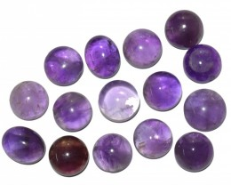 43.95 CT NATURAL UNTREATED AMETHYST CABOCHON GEMSTONE WHOLESALE LOT