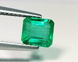 1.31 ct Awesome Green Octagon Cut Natural Emerald