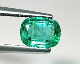 1.34 ct Collective Gem Green Cushion Cut Natural Emerald