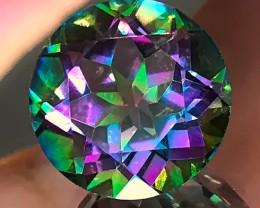 9.72ct Pink Green flash Mystic Quartz gem VVS No reserve