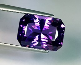 7.27 ct Exclusive Rare Octagon Cut Natural Amethyst