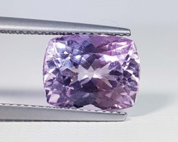 5.62 ct Exclusive Rectangular Cushion Cut Natural Pink or Purple kunzite