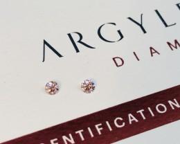 2 = 0.20ct Argyle Pink Diamond Pair