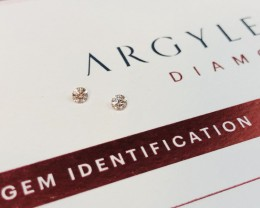 2 = 0.18ct Argyle Pink Diamond Pair