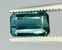 1.65 Crt Indicolite Tourmaline Faceted Gemstone (R 166)