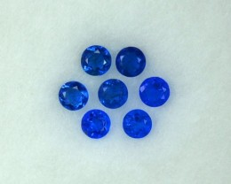 0.22 Cts Extremely Rare Diamond Gleaming Electric Blue Natural Hauyne 7 Pcs