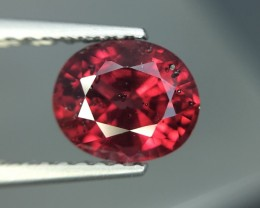1.48 Cts Natural Cherry Red Garnet Awesome Color ~ Africa Pk2
