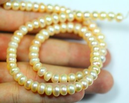 114.0Cts Semi-Round Pearl Strands