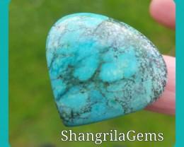 31mm Tibetan Turquoise heart shape CABOCHON 40ct