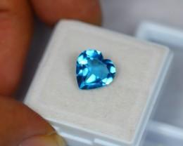 3.15Ct Natural Swiss Blue Topaz Heart Cut Lot LZ454