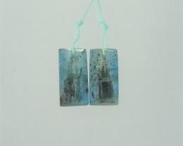 19ct  Hot Sale Natural Blue Kyanite Earring Pair(18041503)
