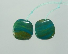 29ct New Design Natural Blue Opal Earring Pair(18041505)