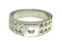 Sterling Silver Semi Finished Ring Ready for Setting and polishing #1123