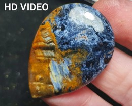 39mm Pietersite cabochon AAA 38ct and 39 by 29 by 4.5mm