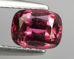 1.55 CTS EXTREMELY FINE FIRE NATURAL PINK COLOR RHODOLITE  NR☆☆☆