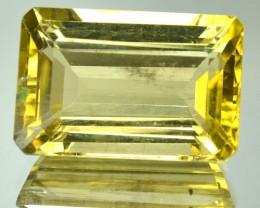 11.37 Cts Natural Golden Yellow Scapolite Octagon Cut Tanzanian Gem