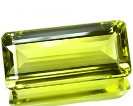 68.19 Cts Natural Lemon Yellow Quartz Octagon Cut Brazil Gem