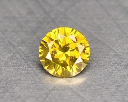 0.05 Cts Natural Canary Yellow Diamond Round Africa