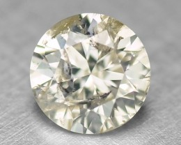0.15 Cts Natural Yellowish Grey Diamond Round Africa