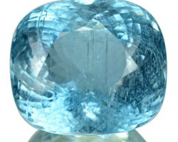 ~BRILLIANT CUT~ 36.29 Cts Natural Santa maria Blue Aquamarine Cushion Cut B