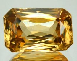 ~SCISSOR CUT~ 5.93 Cts Natural Sparkling Golden Zircon Tanzania