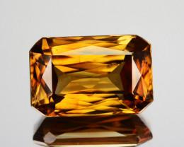 ~SCISSOR CUT~ 4.70 Cts Natural Sparkling Golden Zircon Tanzania