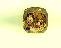 0.26cts Fancy Golden Diamond , 100% Natural Untreated