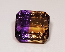 11.27 ct Exclusive Rare Concave Octagon Cut Natural Ametrine