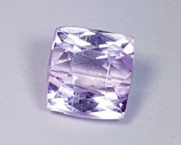 4.57 ct Top Grade Square Cut Natural Pink or Purple kunzite