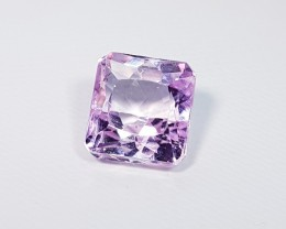 7.30 ct Top Quality Octagon  Cut Natural Pink or Purple kunzite