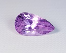 3.46 ct Exclusive Pear Cut Natural Pink or Purple kunzite