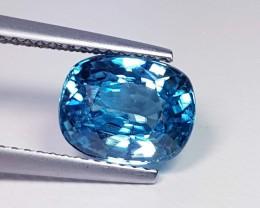 4.14 ct Fantastic Oval Cut Natural Blue Zircon