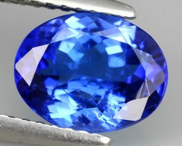 1.95 CTS SPECTACULAR NATURAL ULTRA RARE LUSTER BLUE TANZANITE