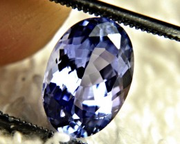 CERTIFIED - 3.14 Carat Purple / Blue VVS1 African Tanzanite - Gorgeous