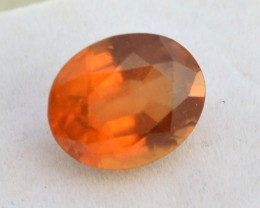 7.70 Carat Fantastic Oval Cut Hessonite Garnet