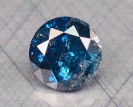 0.17 Cts Natural Titanium Blue Diamond Round Africa