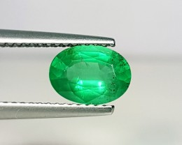 1.20 ct Collective Gem Green Oval Cut Natural Emerald