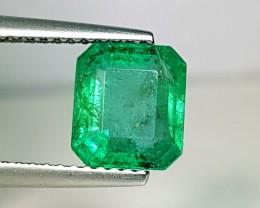 2.08 ct AAA Top Quality Green Emerald Cut Natural Emerald