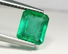 1.85 ct Fantastic Green Emerald Cut Natural Emerald