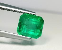 1.57 ct Beautiful Green Emerald Cut Natural Emerald
