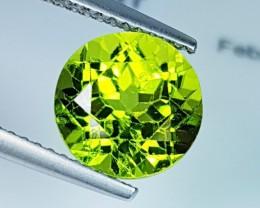 "3.61 ct ""IGI Certified "" Top Luster Round Cut Natural Green Perid"